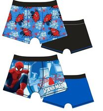 2 Pack Boys Spiderman Boxer Shorts Boxers 2-3 3-4-5 5-6 7-8 9 Years Ideal Gift