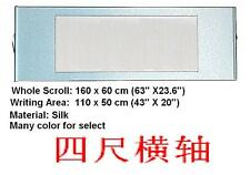 """Empty Blank Chinese Japan Calligraphy Painting Silk Horizontal Wall Scroll 63"""""""