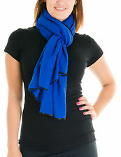 Cotton Cantina Juniors Semi Sheer Basic Scarf with Contrasting Trim