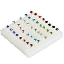 20 Pairs Wholesale Ear Studs Lots Charming Rhinestone Crystal Earrings Popular