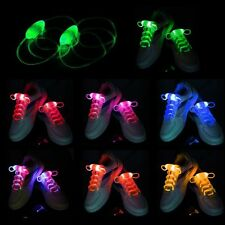 LED Shoelaces Shoe Laces Flash Light Up Glow Stick Strap Shoelaces Disco Partys
