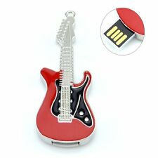 8GB 16GB 32GB Creative Metal Guitar Model USB 2.0 Flash Drive Memory Stick