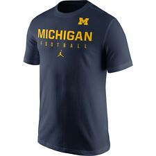 NWT Jordan Men's Michigan Wolverines Navy Football Practice T-Shirt