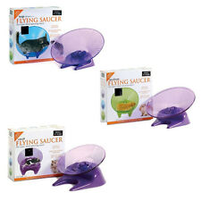 Small 'N' Furry Flying Saucer Silent Exercise Wheel - Hamster Mouse Gerbil Rat