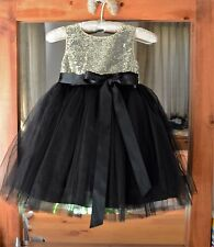 White Black Ivory Red Sequin Mesh Flower girl dress Sizes 12-18 months - 8 years