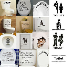 Vintage Removable Wall Stickers Bathroom Toilet Door Sign Decor Vinyl Art Decals