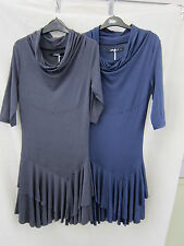 LADIES B-SOUL STRIPED DRESS WITH COWL NECK (2 COLOURS)