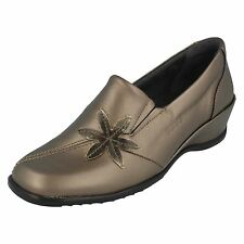 LADIES SUAVE ANT.GOLD/COPPER CASUAL SHOES WITH WEDGE HEEL STYLE: SHEILA