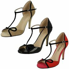 LADIES ANNE MICHELLE OPEN TOE SANDALS WITH T-BAR STRAP (3 COLOURS) STYLE: F10573