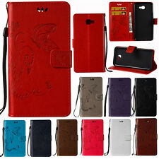 Flip Magnetic Butterfly Leather Stand Card Wallet Case Cover for Samsung Galaxy