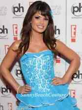 Betsey Johnson Blue April Sequin Dress Prom Evening Party Cocktail Lace