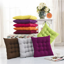 Colourful Chunky Seat Pads Tie On Office Garden Dining Kitchen Chair Cushion New