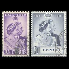 CYPRUS 1948 SILVER WEDDING ISSUE USED SET STAMPS