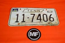 Antique 1962 Tennessee License Plate
