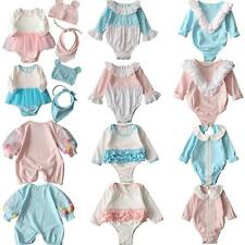 Newborn Toddler Infant Baby Boy Girl Romper Jumpsuit Bodysuit Outfit Grows 0-24M