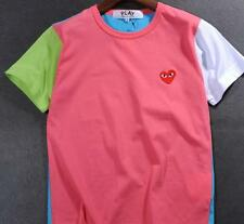 New Women's Men's T-shirts Comme Des Garcons CDG Play cute Red Heart Tee White