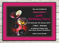 Birthday Invitations, Party Invites, 18th 21st 30th 40th 50th 60th any age Peg 6