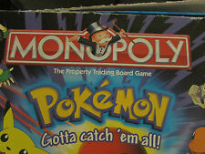 1999/2000 MONOPOLY POKEMON EDITION  REPLACEMENT PARTS & CARDS