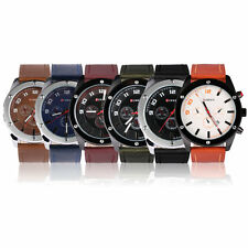 CURREN 8204 Luxury Watches Men Military Wrist Watches Leather Sports Watch O4