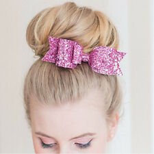 Fashion Women Girls Sequins Big Bowknot Barrette Hairpin Hair Clips Hair Bow nv