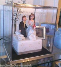 "WEDDING CAKE TOPPER 10"" (255) x10"" (255) x12"" (305) - GLASS DISPLAY CASE ONLY"