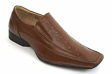 Men's Dress Casual Shoes  Cognac Slip On Loafer Leather Lining MAJESTIC 88222
