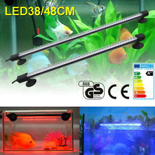 Aquarium Fish Tank Waterproof Submersible White RGB Blue LED Light Bar Lamp US