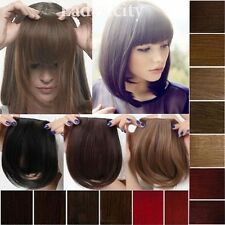 Long New Bangs Clip on Front Neat Bang Fringe Clip in Hair Extensions Wedding Tk