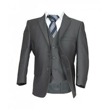 Italian Page Boy Suits, Wedding, Prom, Communion in Gray, Boys Grey Formal Suits