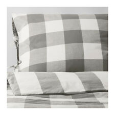 Amazing Ikea EMMIE RUTA Duvet cover and pillowcase(s), gray, white