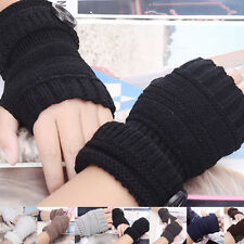 Wrist Arm Hand Warmer Mittens Men Women Knitted Fingerless Winter Gloves Fashion