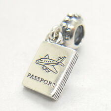 Genuine Authentic S925 Sterling Silver Adventure Awaits Passport Charm bead