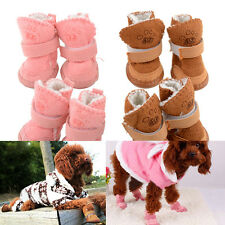 New Lovely Adjustable Pet Dog Puppy Winter Anti-slip Cozy shoes Boots