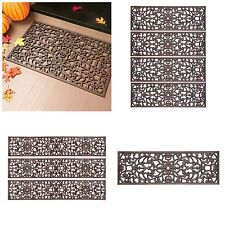 """Outdoor Decorative Rubber Stair Treads Antique Copper Scroll 30"""" 48"""" Or Doormat"""