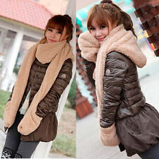 Winter New Women's Winter Fleece Scarf Set 3 In 1 Scarf Hat And Gloves Set Suit