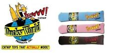 Cat Cigars Ducky World Yeowww, brown, blue, and pink 100% Organic Strong Catnip
