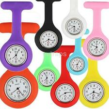 New Fashion Silicone Nurses Brooch Tunic Fob Watch New With FREE BATTERY