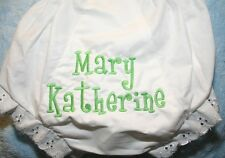Monogrammed Diaper Covers Bloomers Baby Toddler Personalized Name