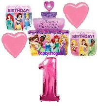 DISNEY PRINCESS 1ST BIRTHDAY PARTY BALLOONS BOUQUET DECORATIONS CAKE DREAM BIG