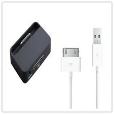 NewDESKTOP DOCK CHARGER CRADLE STAND DOCKING STATION & USB CABLE FOR IPHONE 4 4S