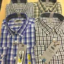 Ex M&S  PURE COTTON Mens TONAL& GINGHAM CHECKED  Button Down Smart Casual SHIRTS