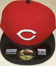 Cincinnati REDS Red/Black New Era 59FIFTY Fitted Caps MLB On Field Hats