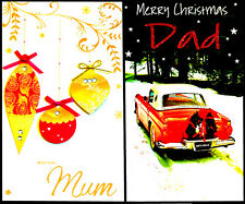 Mum Dad Christmas Wishes Greeting Cards Multi Listing Luxury Cards Take A L@@K:)