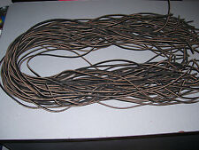 """NEW.  (1) PAIR 12"""" by 1/8"""" (Dark BROWN COLOR) RAWHIDE LEATHER  SHOE/BOOT LACES."""