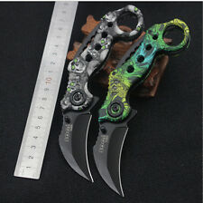 2017 NEW OUTDOOR MULTI-FUNCTION FOLDING KNIFE COLORED SCORPION PAW KNIFE