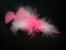 Brand New Pink Feather & Swarovski Crystal Hand crafted Fascinator