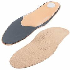 2 Pair Real Leather Orthotic Insoles Metatarsal Arch Support Flat Feet Inserts