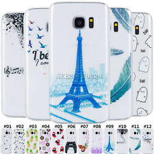 For Samsung Galaxy Gel Clear TPU Case Patterned Shell Protective Soft Cover Back