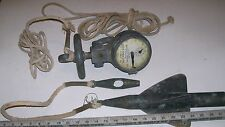 Vintage LIONEL Trains WW2 Taffrail Knot Meter Spinner BRASS for Sailboat / Yacht