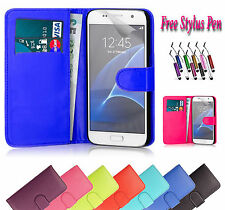 PU Magnetic Wallet Leather Case Cover Holder Stand ID For Samsung Galaxy S5 UK
